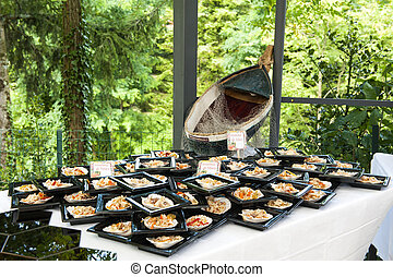 catering buffet in the castle - a catering buffet for a...