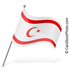 flag Turkish Republic of Northern Cyprus vector illustration...
