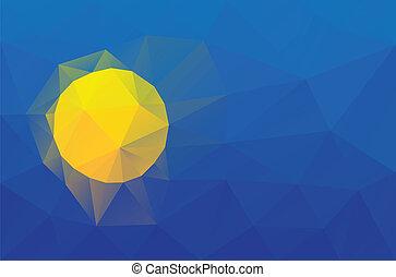 Palau flag - triangular polygonal vector pattern