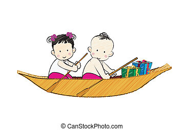 Boy and Girl on the boat