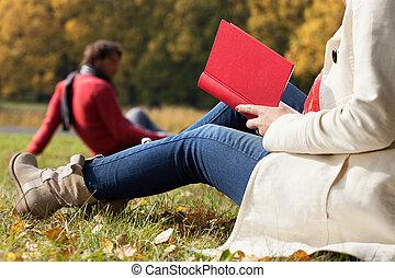 Autumn relax on fresh air