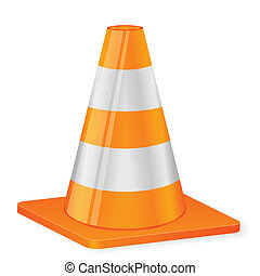 traffic cone - Traffic cone on a white background. Vector...