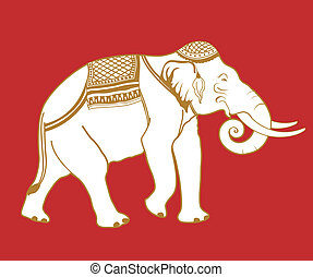 Thai Elephant - Illustration of Thai elephant.