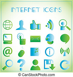 Internet icons - Vector illustration of internet icons on...