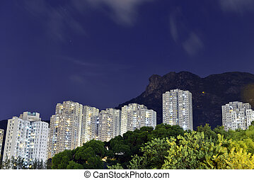 Kowloon residential building with l
