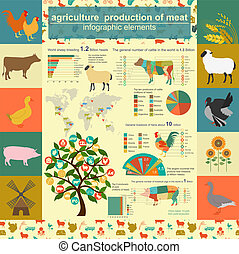 Agriculture infographics