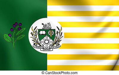 Flag of Saskatoon, Canada. Close Up.