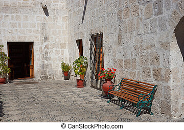 Historic House in Arequipa - Courtyard in a historic Spanish...