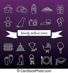 family outline icons