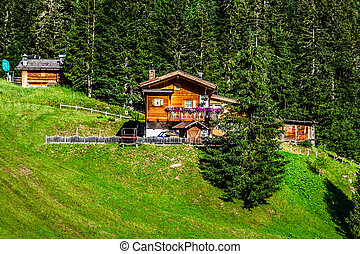 Typical Home of Dolomites - Italian Mountains - Europe