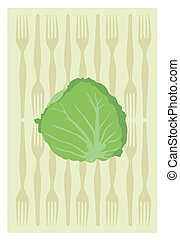 cabbage - Vector of cabbage