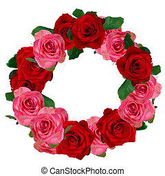 red and white roses wreath - red and pink roses wreath...