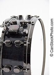 Black Snare Drum Isolated on White