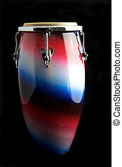 African Latin Conga Drum Isolated On Black