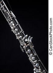 單簧管, 黑色, 被隔离, 雙簧管