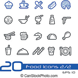 Food Icons - 2 of 2 Line Series - Vector icons set for your...