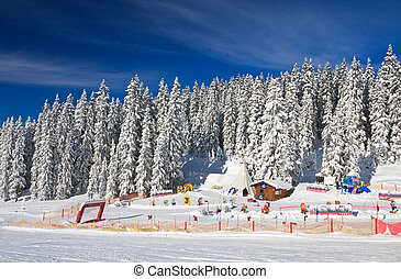 Childrens stadium Ski resort Schladming Austria