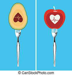 Vector of Foods for healthy Heart - Best foods for your...