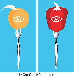 Vector of Foods for healthy eyes - Best foods for eyes...