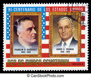 presidents F. D. Roosevelt and H. Truman - EQUATORIAL GUINEA...