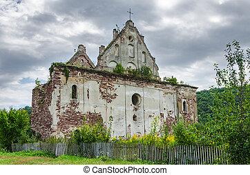 Ruin of a medieval church - Ruin of a rural medieval church...