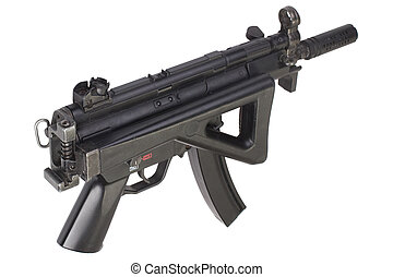submachine gun  isolated - submachine gun isolated