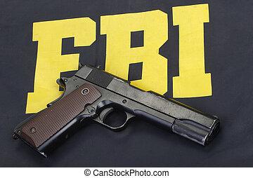政府, 小馬, 制服,  m1911,  fbi, 手槍
