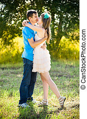 Young couple dating. - Dating of a young couple on the...