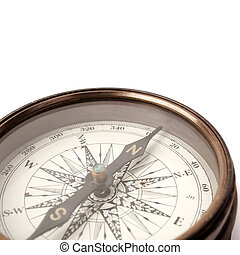 compass - isolated on white background with soft shadow,...