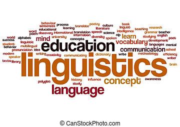Linguistics word cloud - Linguistics concept word cloud...