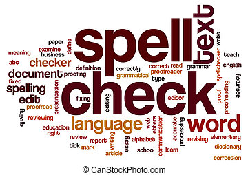 Spell check word cloud - Spell check concept word cloud...