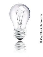 light bulb - isolated on white background, selective focus...