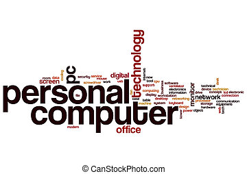 Personal computer word cloud