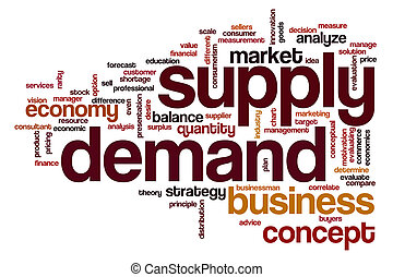 Supply demand word cloud - Supply demand concept word cloud...