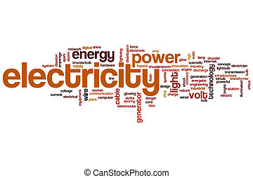 Electricity word cloud - Electricity concept word cloud...