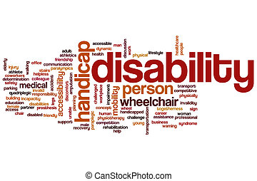 Disability word cloud - Disability concept word cloud...