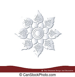 Thai ornament design card paper 3D - Vector of Thai ornament...