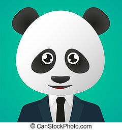 Panda avatar wearing suit