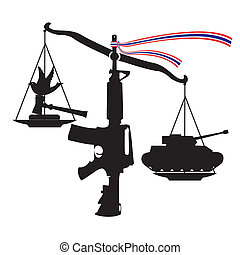 Scale of Unfairness coup by judiciary, Vector, Illustrator...