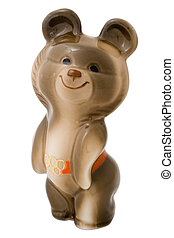 Misha, the Moscow Olympic Games mascot - Ceramic figurine of...