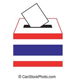 Vote label in a slot of box