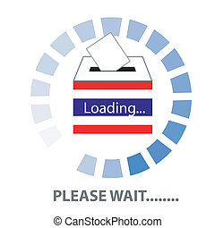 PLEASE WAIT THAILAND - Vector of Thai Democracy vote label...