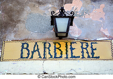 italian Barber shop vintage retro