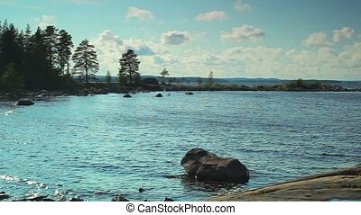 Lake in Finland. - Lake in Finland panorama.