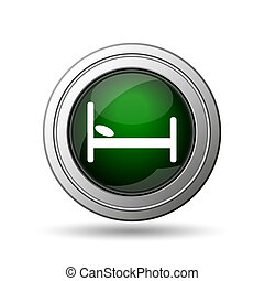 Hotel icon Internet button on white background