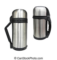 thermos - The image of thermos under the white background