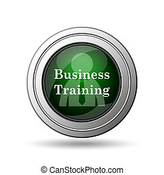 Business training icon Internet button on white background...