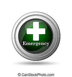 Emergency icon Internet button on white background