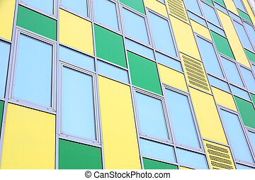 modern office building - Colorful modern office building...