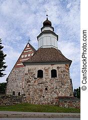 Church and Bell Tower of Sauvo, Finland
